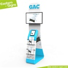 Elegant wrinkle free fabric advertisement easily carry trade show anti-theft tablet stand