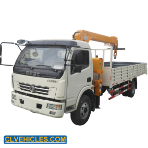 DONGFENG 4*2 5 tons loading lorry mini truck crane