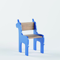 New Design Children Wooden Furniture Unicorn Little Kids Chairs for Toddlers