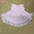 Solid color girls high low top latest dress designs baby girl sleeveless pink lace floral ruffle dresses