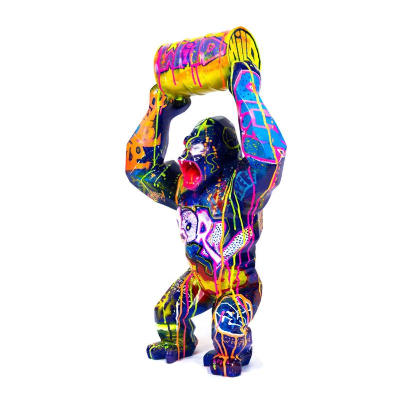 High quality outdoor Richard Orlinski wild Kong oil gorilla statue