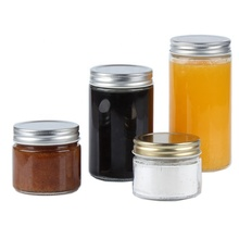 Groß Leere Zylinder Caviar Container Glas Frische <span class=keywords><strong>Obst</strong></span> Saft Honig Marmelade Glas Flasche