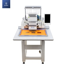 BAI worktable size industrial flat sew head lace embroidery machine