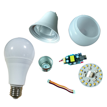 china supplier cheap light bulb cfl skd e27 b22 7w 18W 12W 9W aluminum parts led bulb raw material for assembly