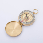 G50 Pure copper brass pocket watch retro flip compass for outdoor camping hiking survival