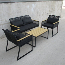 Outdoor Furniture Grosir Outdoor <span class=keywords><strong>Sofa</strong></span> Santai Logam dan Furniture Rotan <span class=keywords><strong>Taman</strong></span> <span class=keywords><strong>Sofa</strong></span> <span class=keywords><strong>Set</strong></span>