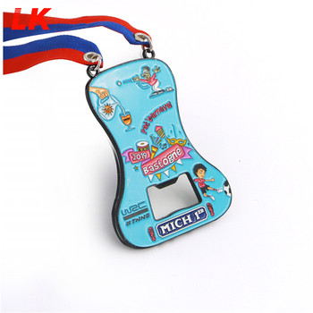 Custom Cheap price promotional medal with sublimation ribbon