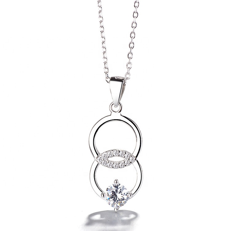 woman Lovely sexy fashion circle pendant sterling <strong>silver</strong> 925