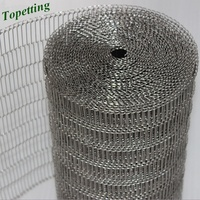 Stainless Steel 304 chocolate enrober wire mesh for food machine