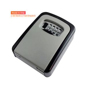 Key Lock Box Wall Mounted Key Safe Box Weatherproof 4 Digit Combination Key Storage Lock Box