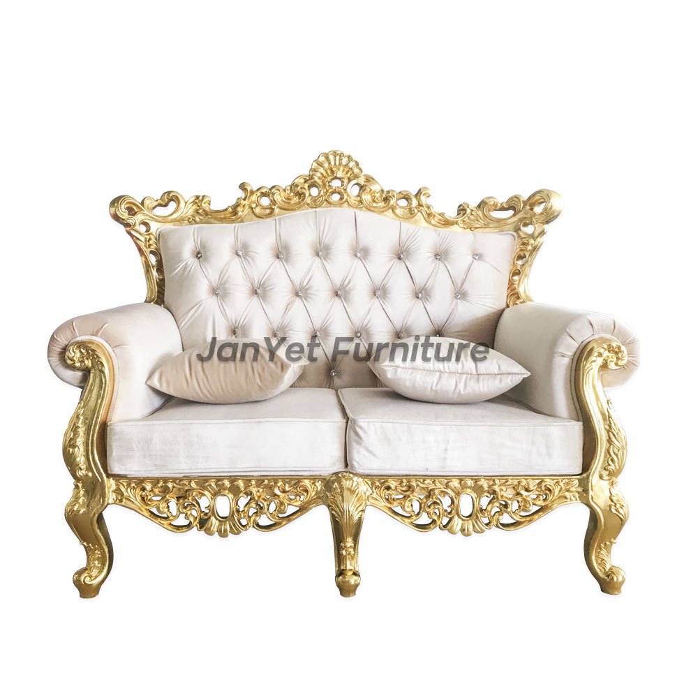 Customize White Gold Baroque Style