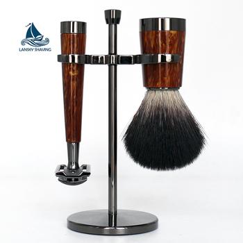 High Quality 3pcs Mens Wet Shaving Kit Set With Shaving Brush And Shaving  Razor - Buy Mens Shaving Kit,Wet Shaving Kit,Shaving Kit Set Product on