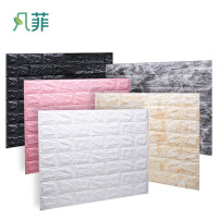 Waterproof 3D foam Mural wall panels easy clean 3D Bricks wall paper