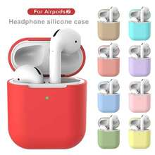 Mini Soft ซิลิโคนสำหรับ Apple <span class=keywords><strong>Airpods</strong></span> กันกระแทกสำหรับ Apple <span class=keywords><strong>AirPods</strong></span> หูฟัง Ultra Thin Air Pods กรณี Protector