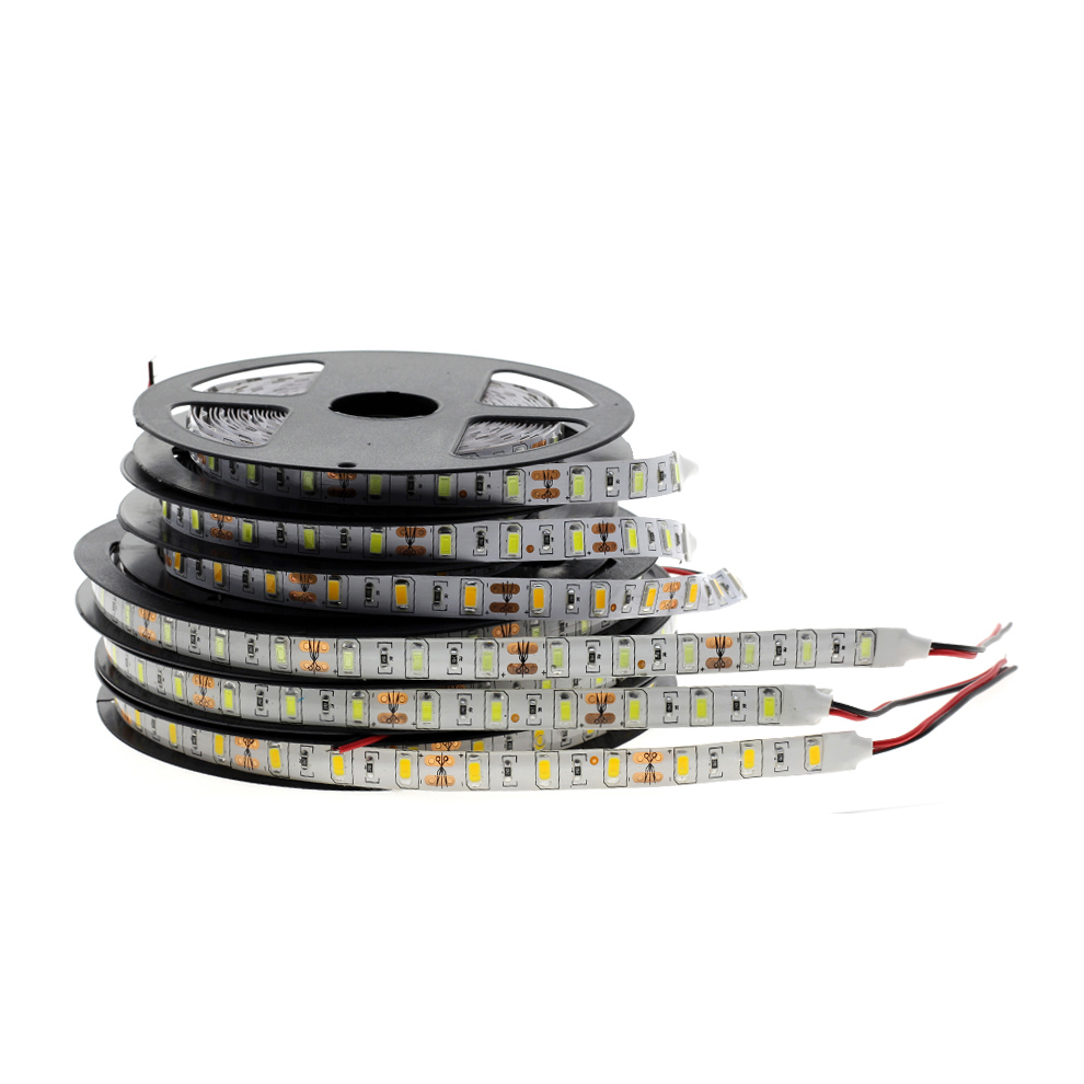 tira de led led strip smd 5730 5050 2835 60 LED nonwaterproof LED strip light rgb dc2v 24v for landscape lighting no powersupply