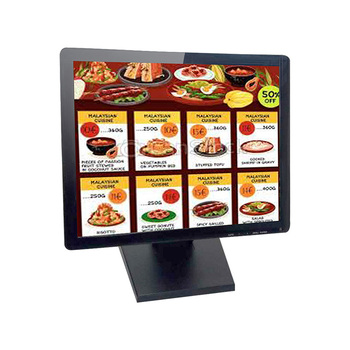 True flat screen 15 inch small touch screen monitor for restaurant POS machine