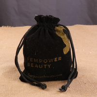 Custom Jewelry Gift Packaging Suede Bag With Logo Print