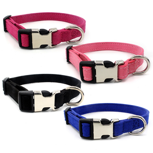 Wholesale hot sale pet supplies sup soft pet name dog collar