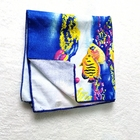 Wholesale south america africa stock super cheap fiber reactive Bath Towels Underwater World microfiber Printed Beach Towels