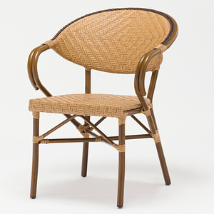 Plastic Rattan Woven Comfortable Leisure Chair Cafe Shop Chair Big Size