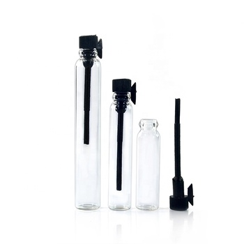 In stock empty 1ml 2ml 3ml glass perfume spray sample vial bottle for cosmetic packaging
