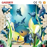 Custom art design waterproof vinyl 3d floor sticker wall decoration sticker printing