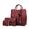 Europe and America fashion design handbags 3pcs set group women bags imitation leather bags