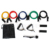 Natural latex resistance tube set,elastic band,home gym fitness kit wholesale