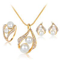 Hot sale fashion jewelry sets pearl pendant necklace women jewelry set