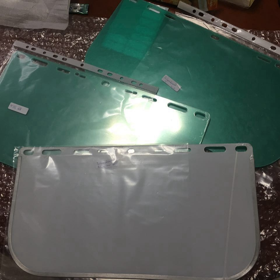 Green face splash shield guard shields protect the from OEM LOTO