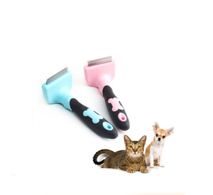 2019 wholesale Professional Pets Hair Styling Tools Sided Open Knot Hair Brush Removal Rake Grooming Combs