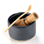 High-End Black Matcha Ceramic Tea Bowl for Japanese Matcha Ceremony