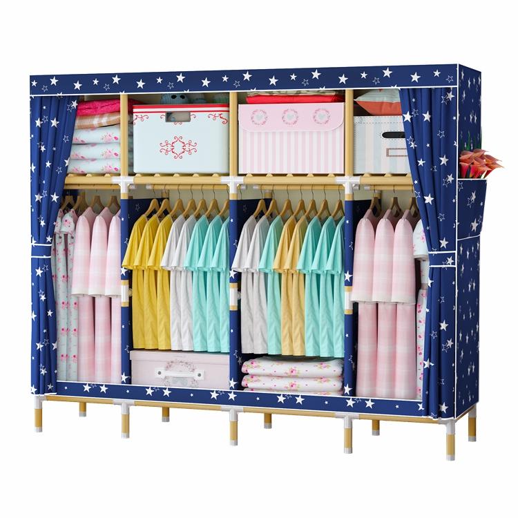 2019 โปรโมชั่นราคาถูกขายส่งราคาผ้าตู้เสื้อผ้า/ตู้เสื้อผ้าตู้ไม้/ตู้เสื้อผ้าแบบพกพาจากจีน