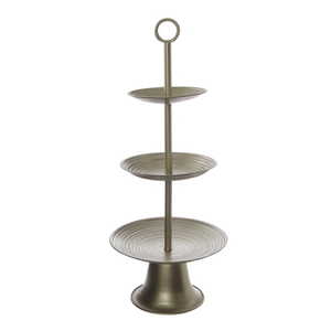 Decorative tall three tier cake stand