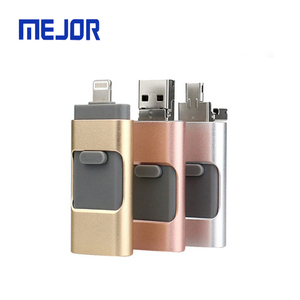 16/32/64/128 GB USB flash drive 3 IN 1 memory stick 3.0 IOS Micro android smart phone OTG Pendrive 32GB