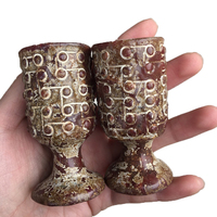 Wholesale Hand Carved Folk art Gemstone Craft Similar Antique Cup Crystal Mineral Craft