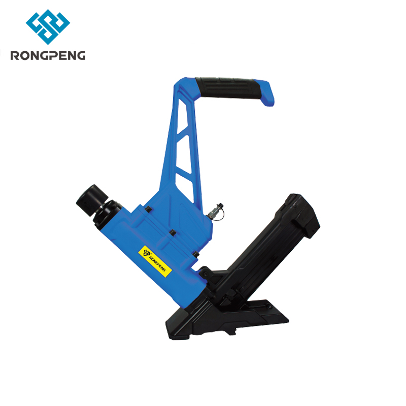RONGPENG 3-In-1 Pneumatic Floor Nailer/Stapler with White Rubber Mallet