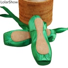 Green Ballet Shoes Sexy Comfortable Ballet Elastic Dance Shoes In Stock