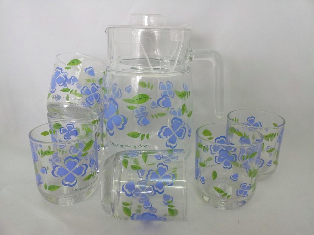 Ce/eu/fda/sgs High Quality 7pcs Glass Water Set,Glass Water Jug ...