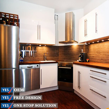 Cheap White Pvc Wood Door Kitchen Cabinet With Pvc Kitchen Prices