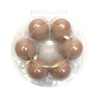 Transparent disposable round circle shape blister plastic egg tray boxes