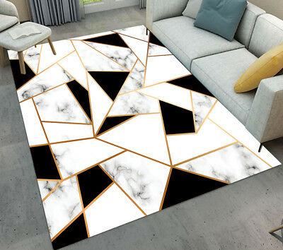 Black White Marble Texture Warm Mat