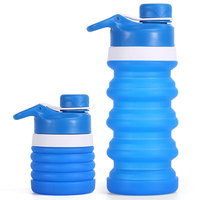Private Label New Products Folding Bottle, Portable Pet Water Bottle Foldable