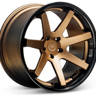 5x120 2 piece forged Gloss Black Concave Forged Car Alloy Wheels rims