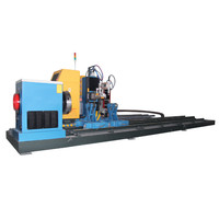 5 axis CNC intersecting line steel pipe plasma cutting machine/ flame pipe cutting machine