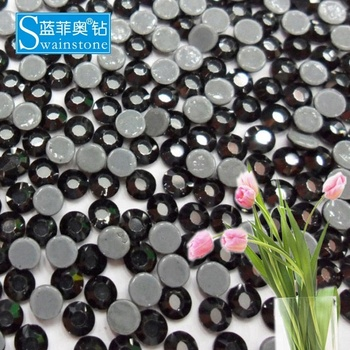 Y1013 Black color SS20 100gross crystal transfer ultra-low lead rhinestones designs for clothing china factory wholesale