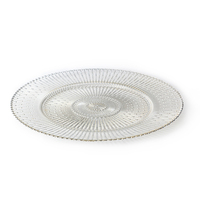 Wholesale Price Plastic Beaded Charger Plate Chargers, Wedding Plates Gold ,Round Charger Plates%