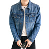 2019 Fashion Men Jeans Jackets Tops Long Sleeve Denim Coat Vintage Ripped For Men Clothing chaquetas mujer