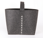 Storage baskets type and eco-friendly feature handmade felt shopping bag