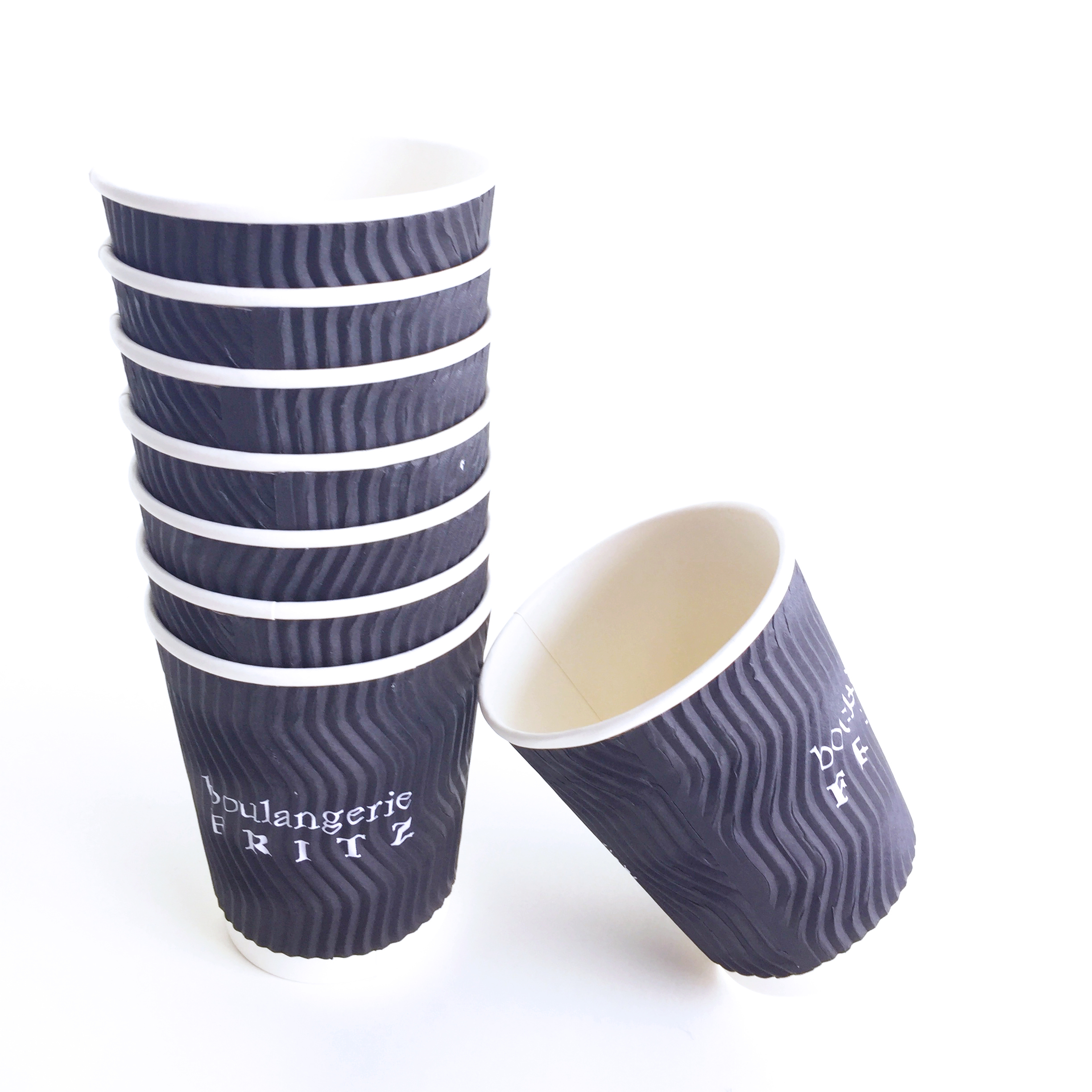 disposable ripple wall coffee paper cup for hot drink Custom Design Hot Coffee 8 OZ 10 oz ripple wall paper cup Takeaway cup